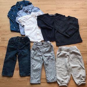 5 tops 3 pants 12-18m